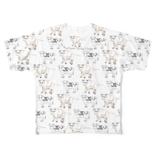 干支(丑年) フルグラフィックTシャツ