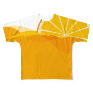オレンジジュース フルグラフィックTシャツ