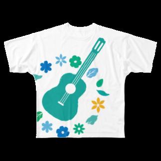 Karen's webshopのぶるーぎたー 大フルグラフィックTシャツ
