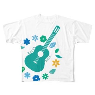 夏ぼさ フルグラフィックTシャツ