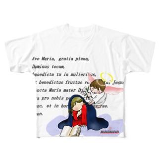 「みな☆の」の受胎告知 Full graphic T-shirts
