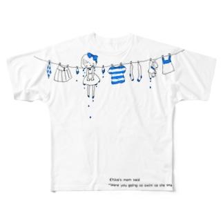 Chico*-blue- フルグラフィックTシャツ