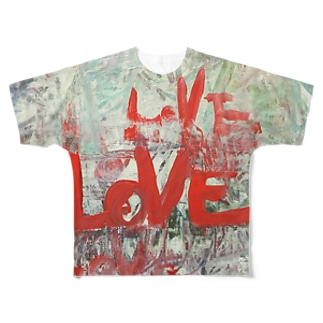 LOVE フルグラフィックTシャツ