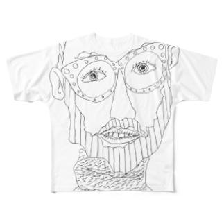 オッサン・スケッチ フルグラフィックTシャツ