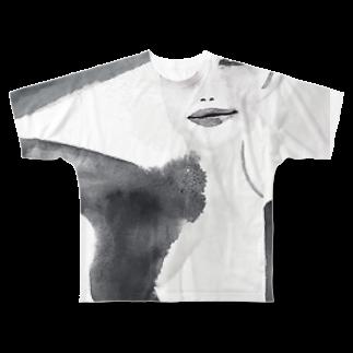 megumiillustrationのmusic フルグラフィックTシャツ