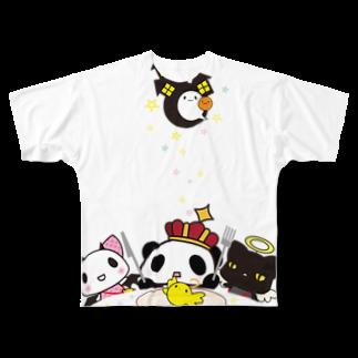 [ E+ ] SHOPの王様ぱんだ。ハロウィン。フルグラフィックTシャツ