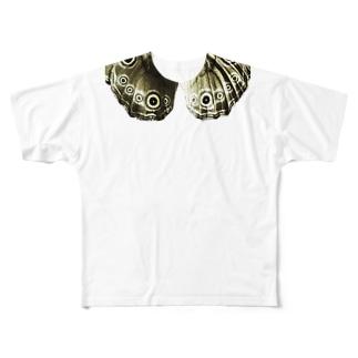 おめめパッチリ襟 Full graphic T-shirts