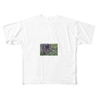 野良猫シマリ Full graphic T-shirts