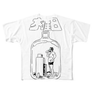 木曜日のTシャツ(白黒バージョン)) フルグラフィックTシャツ