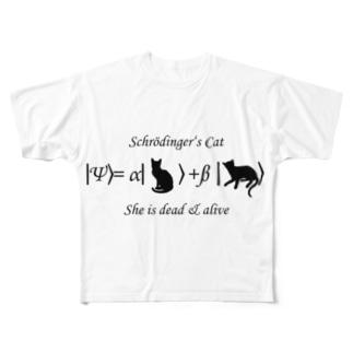 シュレーディンガーの猫 Full graphic T-shirts