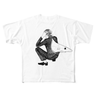 サメ フルグラフィックTシャツ
