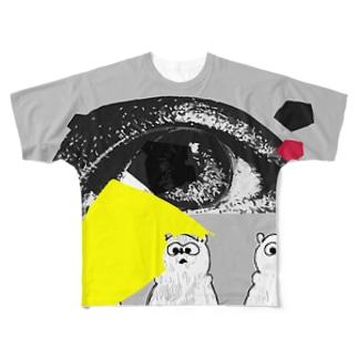 アイくまトリオ Full graphic T-shirts