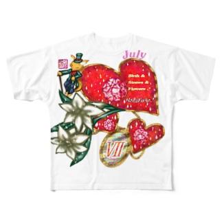 「花籠」Series * Birth07 Jury Full graphic T-shirts