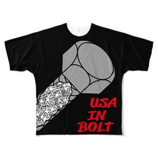 うさ・in・ボルト B Full graphic T-shirts