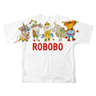 ROBOBO「福ちゃんロボ」 Full graphic T-shirts