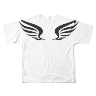 羽 Full graphic T-shirts