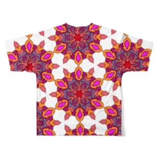 カレイドスコープ Full graphic T-shirts