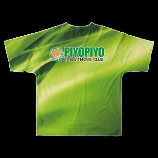 HayashiDesignのぴよぴよ卓球ver3 Full graphic T-shirtsの背面