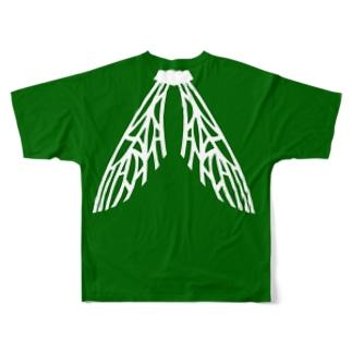 ウッツァス・フェイス・ウイング Full graphic T-shirts