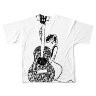 くびれ Full graphic T-shirts
