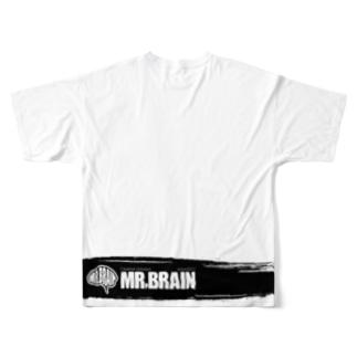 MR,BRAINオフィシャルグッズのMR,BRAIN ロゴTシャツ Bモノ Tシャツ  Full graphic T-shirts