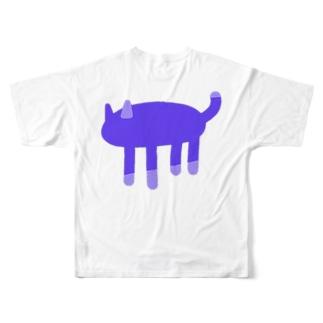 ヤミネコ Full graphic T-shirts