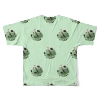 ♡チョコミントアイス Full graphic T-shirts