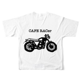 カフェレーサー大好き人 Full graphic T-shirts