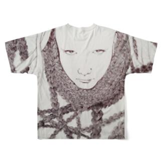 弁髪豚野郎 Full graphic T-shirts