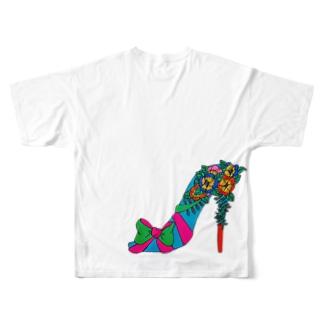 highヒール Full graphic T-shirts