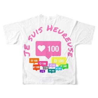 人望 厚美 Full graphic T-shirts