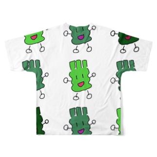 フルグラわさび Full graphic T-shirts