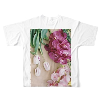 harucamera お花 Full graphic T-shirts