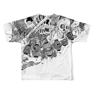 バックプリント大変身Tshirt Full graphic T-shirts