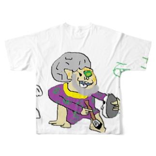 十三代目 面三郎 Full graphic T-shirts