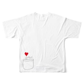 ポケットからキュン Full graphic T-shirts