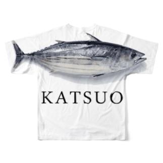 カツオ Full graphic T-shirts