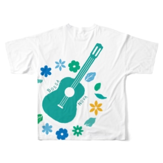 flower guitar Full graphic T-shirts