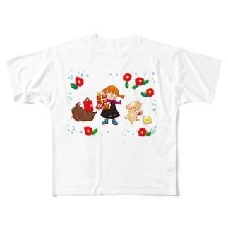 モップ犬こと、コモンドール フルグラフィックTシャツ