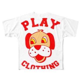 LOGO DOG R ① Full graphic T-shirts