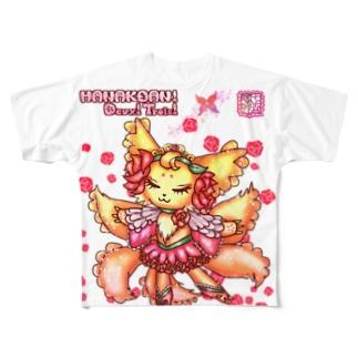 ❀花狐庵❀「コンリーナ」 Full graphic T-shirts