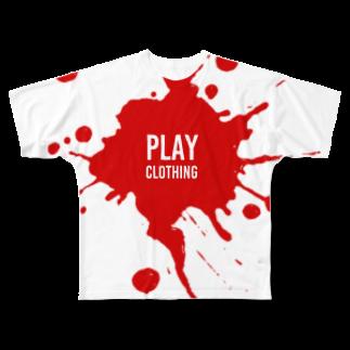 PLAY clothingのSPLASH LOGO  R ① Full graphic T-shirts