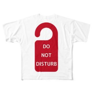 DO NOT DISTURB Full graphic T-shirts