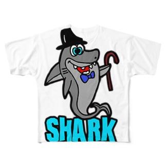 PLAY clothingのHAT  SHARK LB ① Full graphic T-shirts