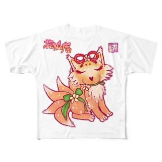 ❀花狐庵❀-HanaKoAn-の❀花狐庵❀「ハナコン」 Full graphic T-shirts