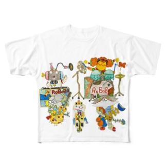 ROBOBO「ライブ」 Full graphic T-shirts