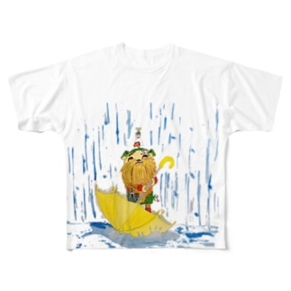 グリちゃんと雨 Full Graphic T-Shirt