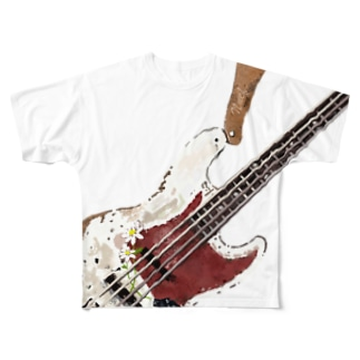 Old Jazz Bass Full graphic T-shirts