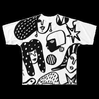 megumiillustrationのwomen-mono フルグラフィックTシャツ