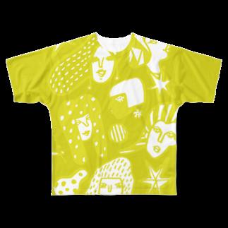 megumiillustrationのBE WOMANフルグラフィックTシャツ